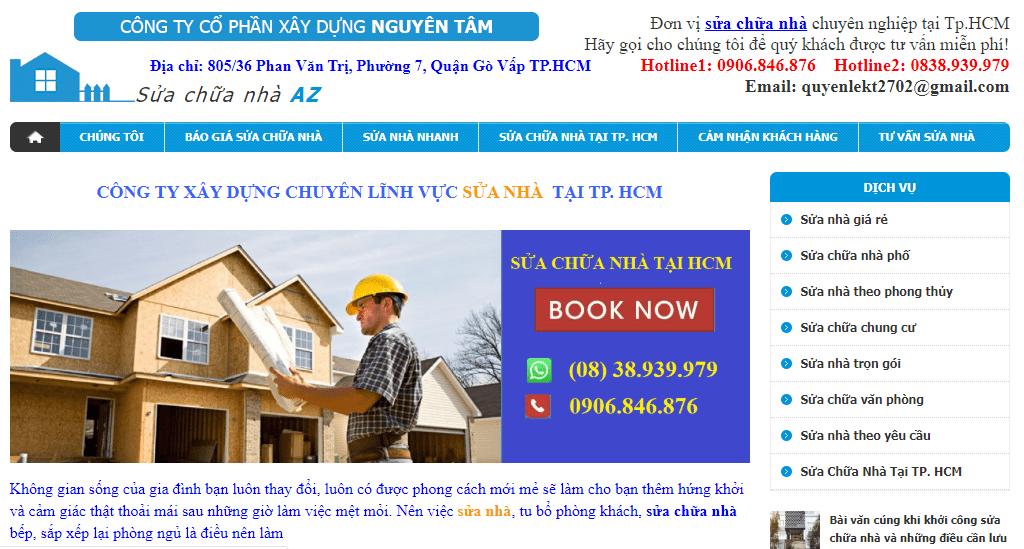 dịch vụ sửa nhà Sài Gòn uy tín