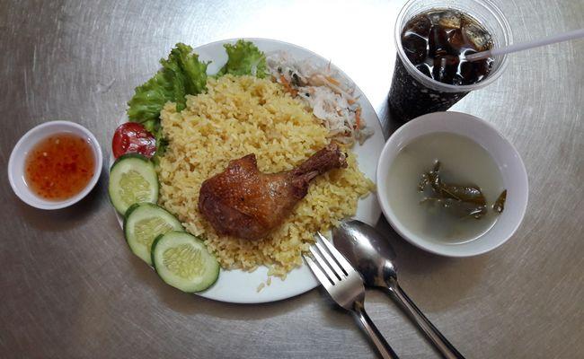 Cơm Gà Xối Mỡ Quang Vinh