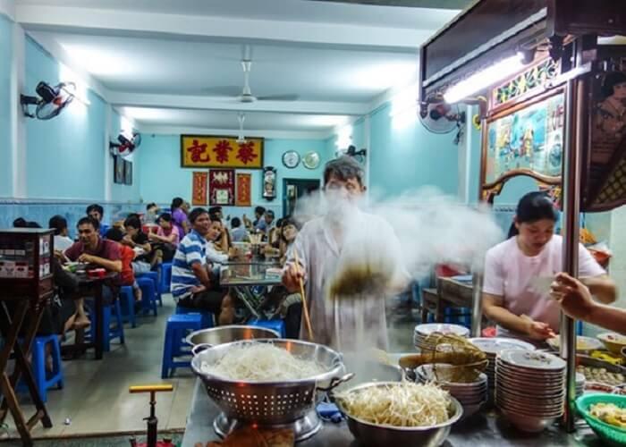 Món ăn trưa Vũng Tàu