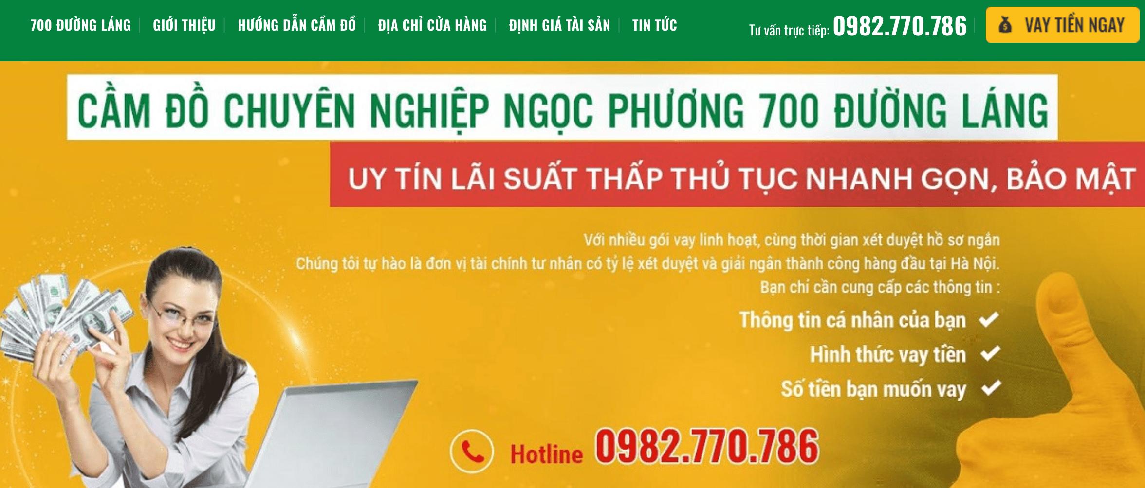 tiệm cầm đồ Hà Nội