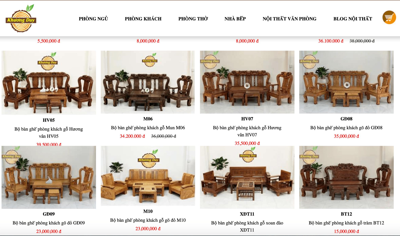 ghế sa lông gỗ TPHCM