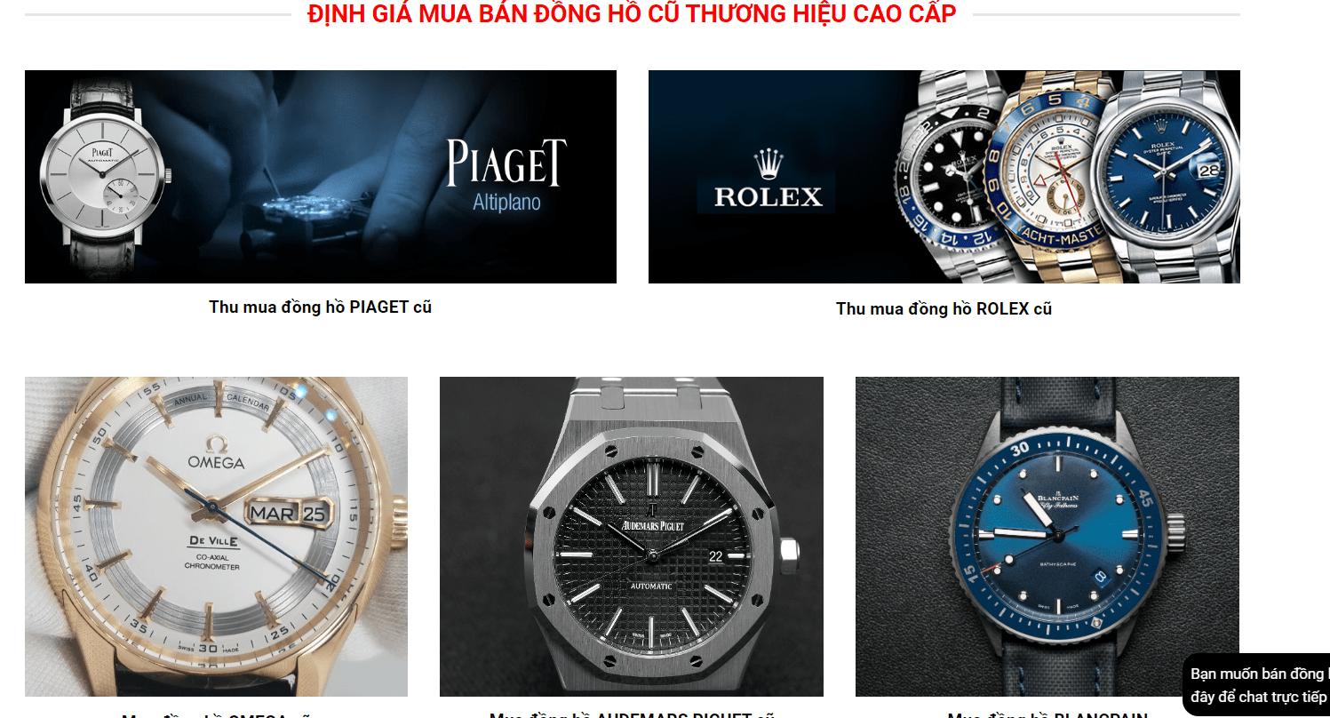 thu mua đồng hồ cũ hà nội
