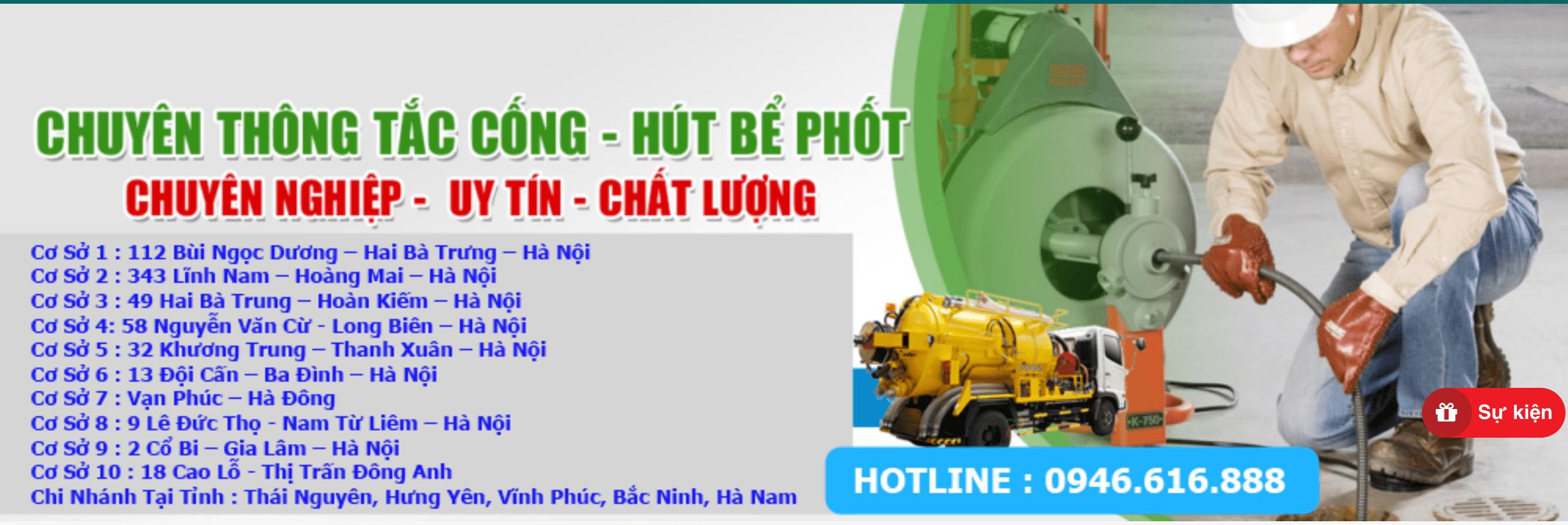 thông tắc cống tại Bắc Ninh