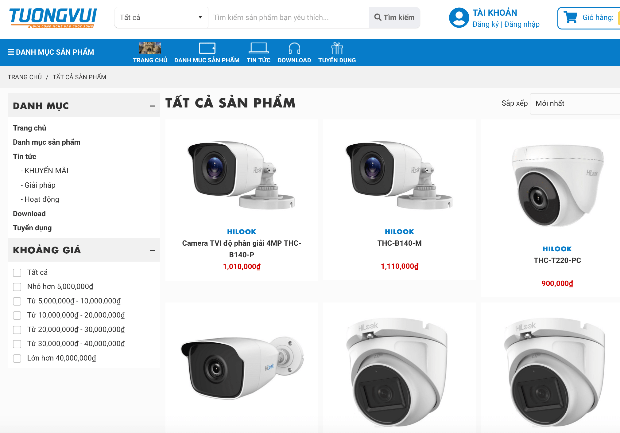 lắp đặt camera Bắc Ninh