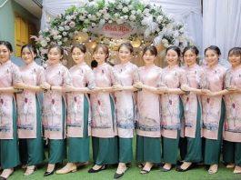 Áo dài bưng quả Nha Trang